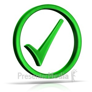 ID# 14064 - Check Mark Circle - Presentation Clipart