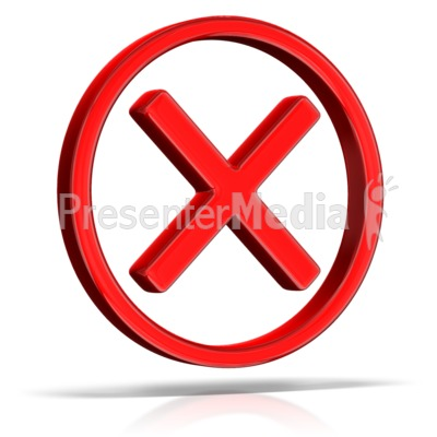 Cancel X Circle PowerPoint Clip Art