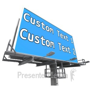 ID# 14067 - Custom Billboard Low Angle - Presentation Clipart