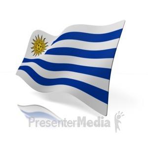 ID# 14096 - Uruguay Flag - Presentation Clipart