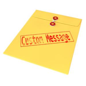 ID# 14100 - Custom Text Envelope - Presentation Clipart