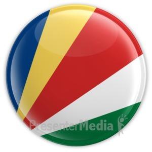 ID# 14105 - Seychelles Button - Presentation Clipart