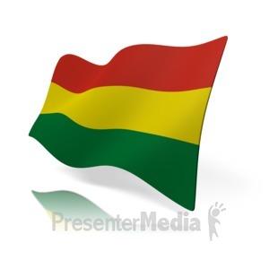 ID# 14110 - Bolivia Flag - Presentation Clipart