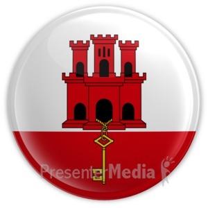 ID# 14115 - Gibraltar Button - Presentation Clipart