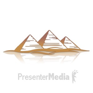 ID# 14119 - Great Pyramids - Presentation Clipart