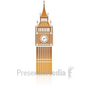 ID# 14121 - Big Ben Clock Tower - Presentation Clipart