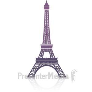 ID# 14122 - Eiffel Tower Icon - Presentation Clipart