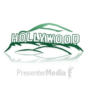 ID# 14123 - Hollywood Sign - Presentation Clipart
