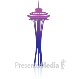 ID# 14128 - Space Needle - Presentation Clipart