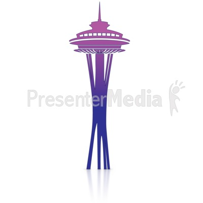 Space Needle PowerPoint Clip Art