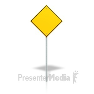 ID# 14130 - Blank Road Sign - Presentation Clipart
