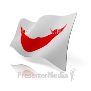 ID# 14138 - Easter Island Flag - Presentation Clipart