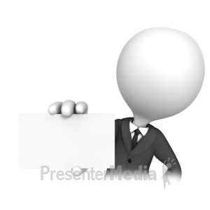 ID# 14143 - Business Man Blank Card - Presentation Clipart