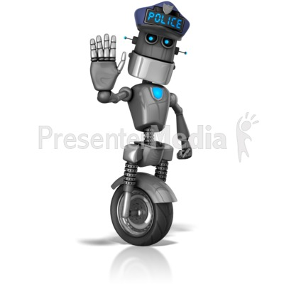 Presenter media powerpoint templates 3d animations and clipart id 14160 robot cop stop signal presentation clipart toneelgroepblik Gallery