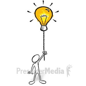 ID# 14166 - Turn The Creativity On - Presentation Clipart