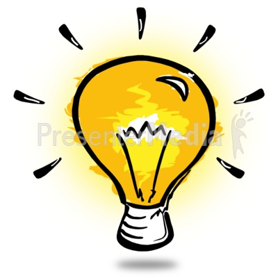 Light Bulb Sketch PowerPoint Clip Art