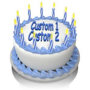 ID# 14171 - Birthday Cake Custom - Presentation Clipart