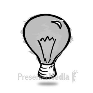 ID# 14173 - Light Bulb Sketch Off - Presentation Clipart