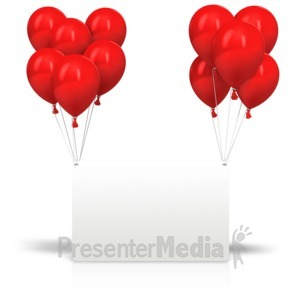 ID# 14197 - Celebration Balloons Card - Presentation Clipart
