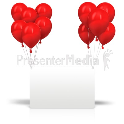 Celebration Balloons Card PowerPoint Clip Art