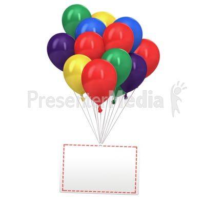 Celebration Message Card PowerPoint Clip Art