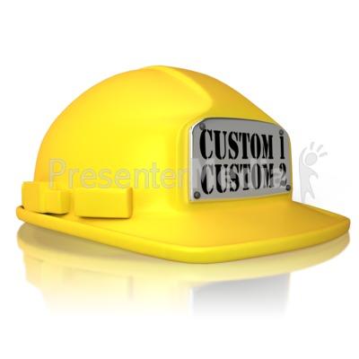 Custom Hard Hat PowerPoint Clip Art