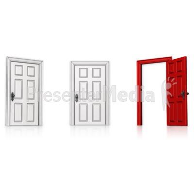Choose Right Door Open PowerPoint Clip Art