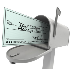 ID# 14221 - Mailbox With Custom Check - Presentation Clipart