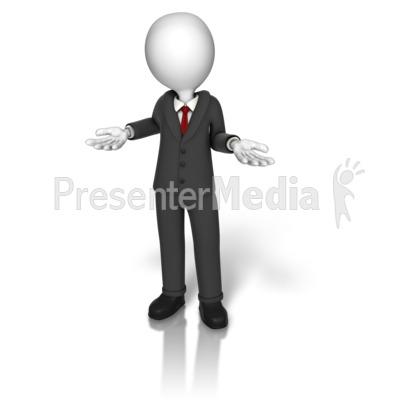 Business Suit Shrugging PowerPoint Clip Art