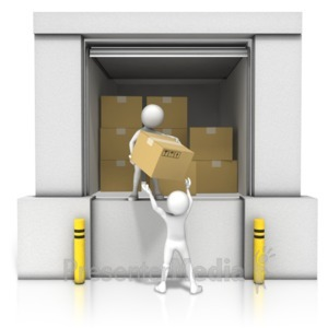 ID# 14240 - Unloading Dock Boxes - Presentation Clipart