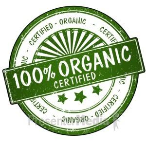ID# 14260 - 100% Organic Seal - Presentation Clipart