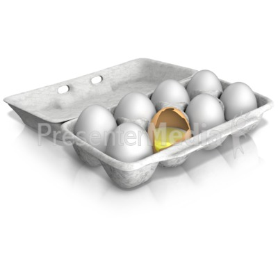 Bad Egg of the Bunch PowerPoint Clip Art