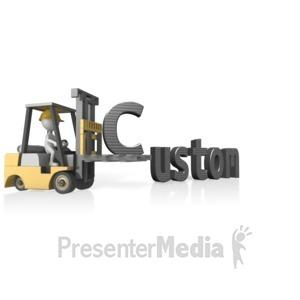 ID# 14304 - Forklift Custom Text - Presentation Clipart