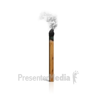 ID# 14306 - A Burnt Match - Presentation Clipart