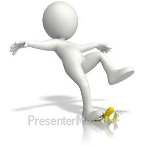 ID# 14333 - Slip On Banana Peel - Presentation Clipart