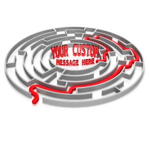 ID# 14345 - Maze Solved Custom Text - Presentation Clipart