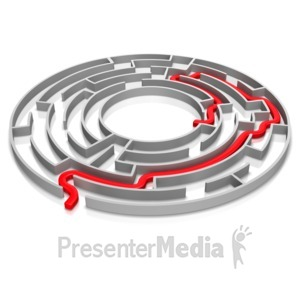 ID# 14346 - Maze Solved - Presentation Clipart