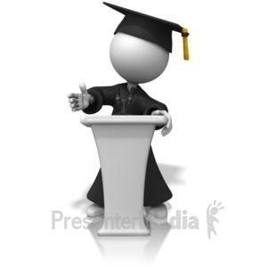 ID# 14351 - Graduate Podium - Presentation Clipart