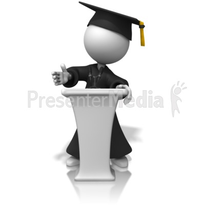 Graduate Podium PowerPoint Clip Art