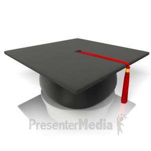 ID# 14356 - Graduation Hat Mortarboard - Presentation Clipart
