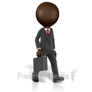ID# 14365 - Business Figure Walking - Presentation Clipart