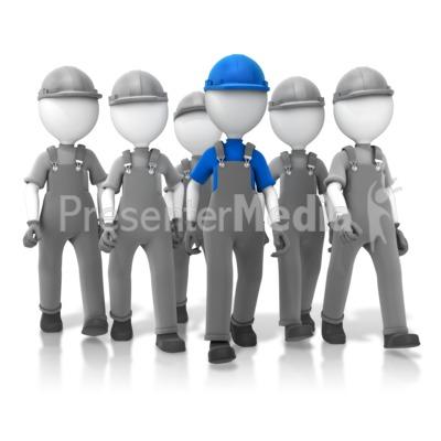 Construction Crew Leader PowerPoint Clip Art