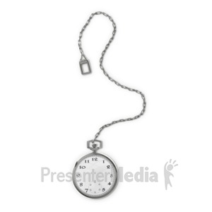 ID# 14375 - Pocket Watch - Presentation Clipart
