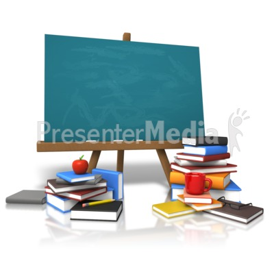 Classic Board Education Books PowerPoint Clip Art