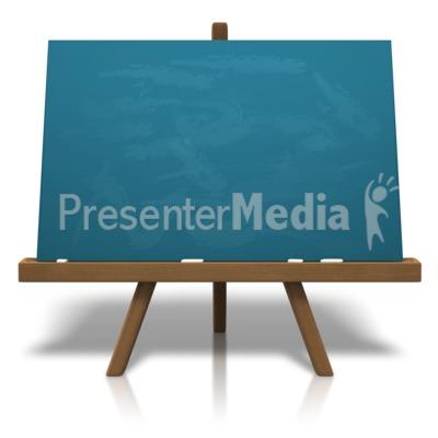 Classic Chalkboard Easel PowerPoint Clip Art