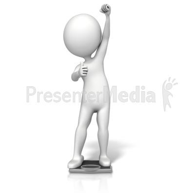 Figure Success Scale PowerPoint Clip Art