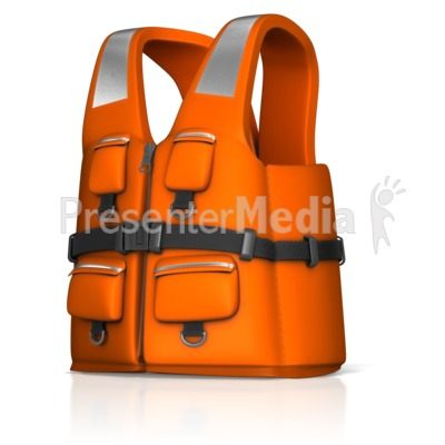 Rescue Life Jacket PowerPoint Clip Art