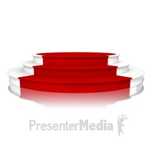 ID# 14413 - Triple Platform Red Carpet - Presentation Clipart