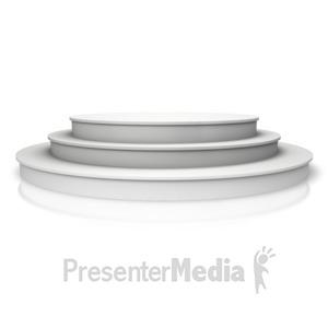 ID# 14415 - Triple Platform Steps - Presentation Clipart
