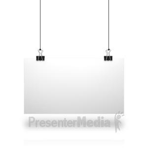 ID# 14418 - White Board String - Presentation Clipart